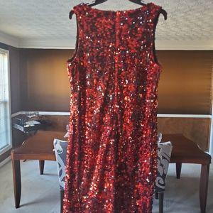 Ashley Stewart Dresses - Red & Black sequin dress